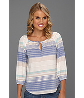 C&C California - Variegated Stripe Peasant Top