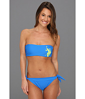 U.S. Polo Assn - Removable Neck Strap Bandeau Bikini with Gel Print Logo
