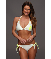 U.S. Polo Assn - Double Neck Strap Bikini with Eyelets and Gel Print Logo