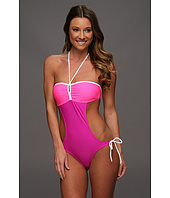 U.S. Polo Assn - Color Block Bandeau Monokini with Engraved Logo on Coin