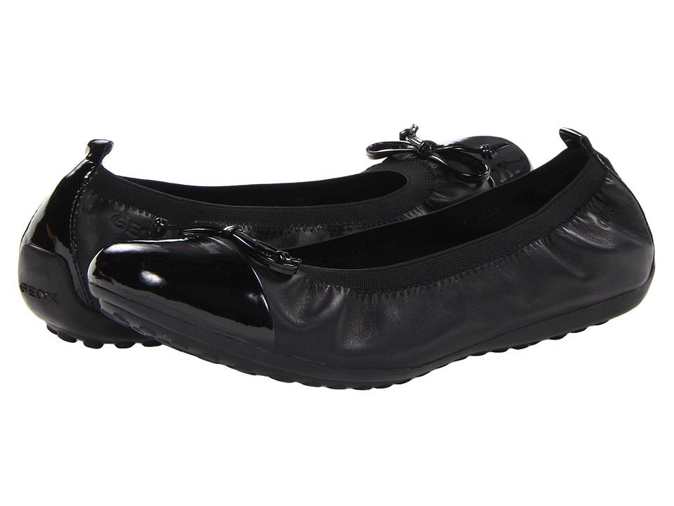 Geox Kids Jr Pima 22 (Big Kid 2) (Black) Girls Shoes