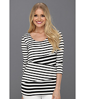 Calvin Klein - Three Quarter Sleeve Stripe Top