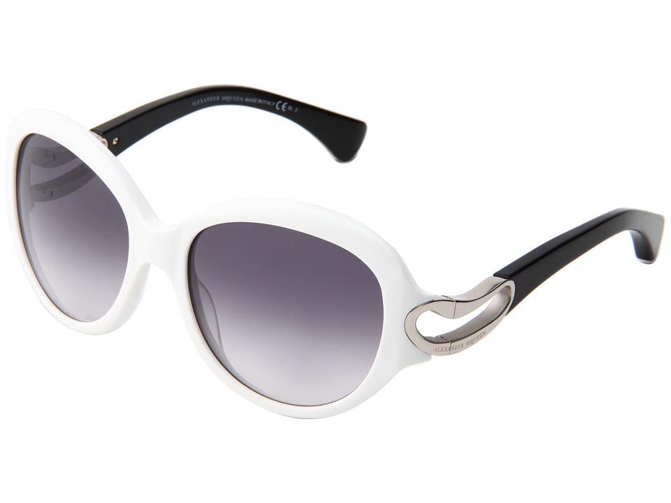 Alexander McQueen AMQ4217/S White/Dark Grey Gradient Fashion Sunglasses
