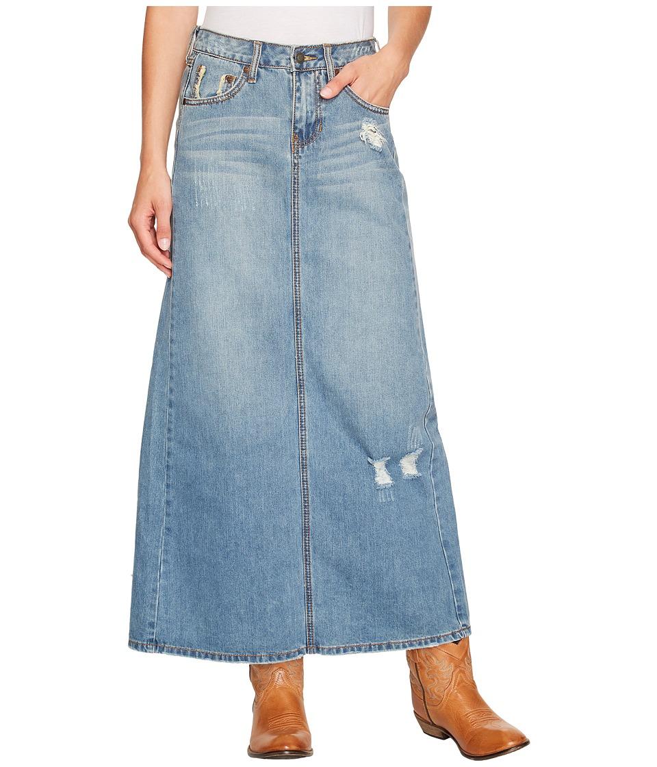 Stetson - Long Denim Skirt w/ Back Slit