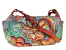Anuschka Handbags - 506 Shoulder Bag (Imperial Dragon) - Bags and Luggage