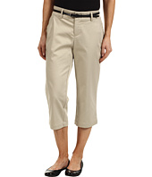 Dockers Petite - Petite Belted Capri with Hello Smooth