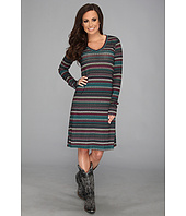 Stetson - 8951 Striped Sweater Knit Dress