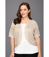 Calvin Klein - Plus Size Circle Shrug w/ Metallic Thread