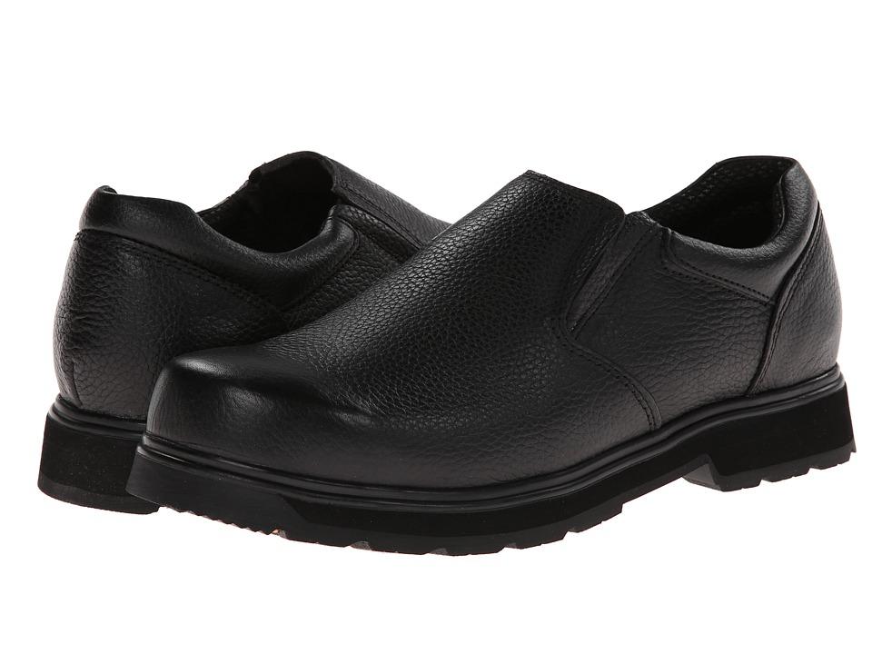 Dr. Scholls Winder Black Luxury Leather Mens Slip on Shoes