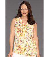 Calvin Klein - Plus Size Abstract Floral Printed Cowl Neck Top
