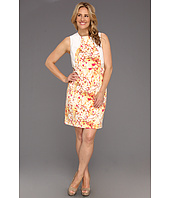 Calvin Klein - Plus Size Abstract Floral Seamed Shift Dress