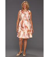 Calvin Klein - Plus Size Retro Skin Print Flare Dress
