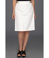 Calvin Klein - Plus Size Pencil Skirt w/ Hardware