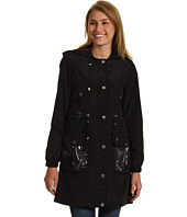 Betsey Johnson - 3/4 Length Raincoat w/ Plastic Trim