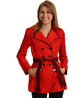 Betsey Johnson - Belted Raincoat w/ Lace Trim