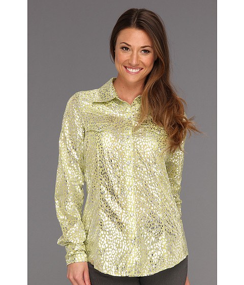 Cheap Roper 8694 Shiny Cheetah Print Shirt Green