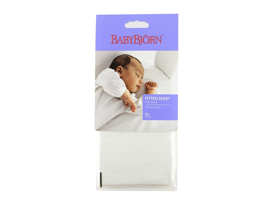 BabyBjorn Fitted Sheet for Cradle Natural White Carriers Travel
