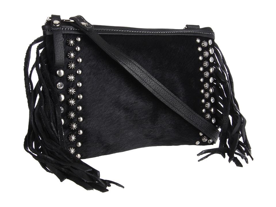 American West - Chaps Crosbody (Black) Cross Body Handbags