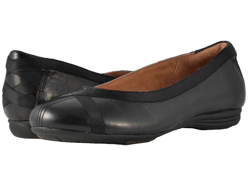 Rockport Cobb Hill Collection - Cobb Hill RevChi (Black) Womens Dress Flat Shoes