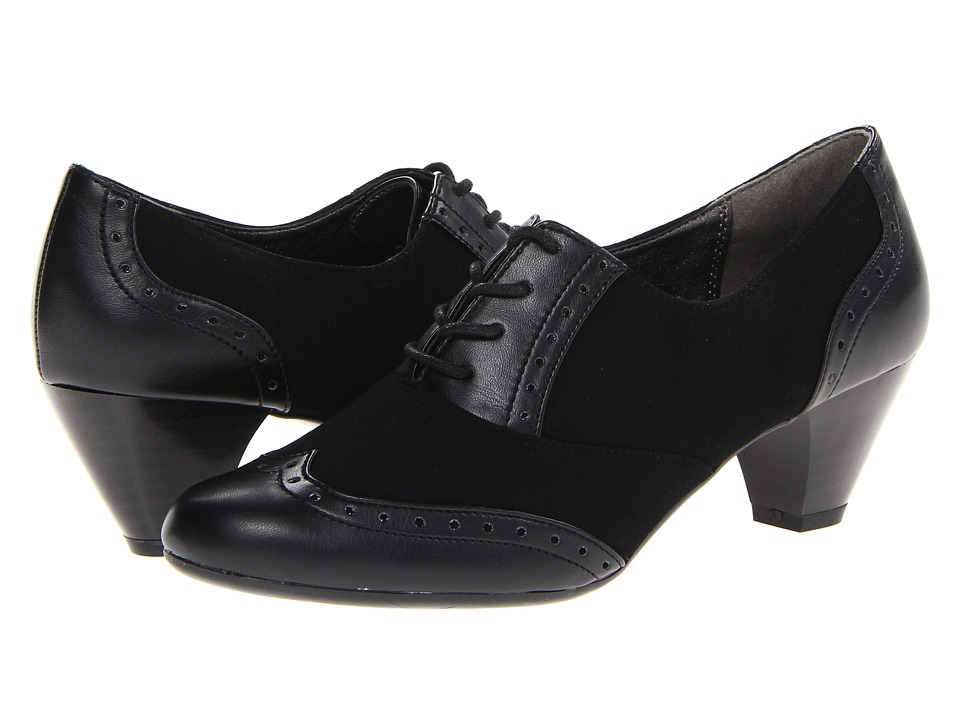 Soft Style - Georgette Black Lamy Womens 1-2 inch heel Shoes $59.00 AT vintagedancer.com