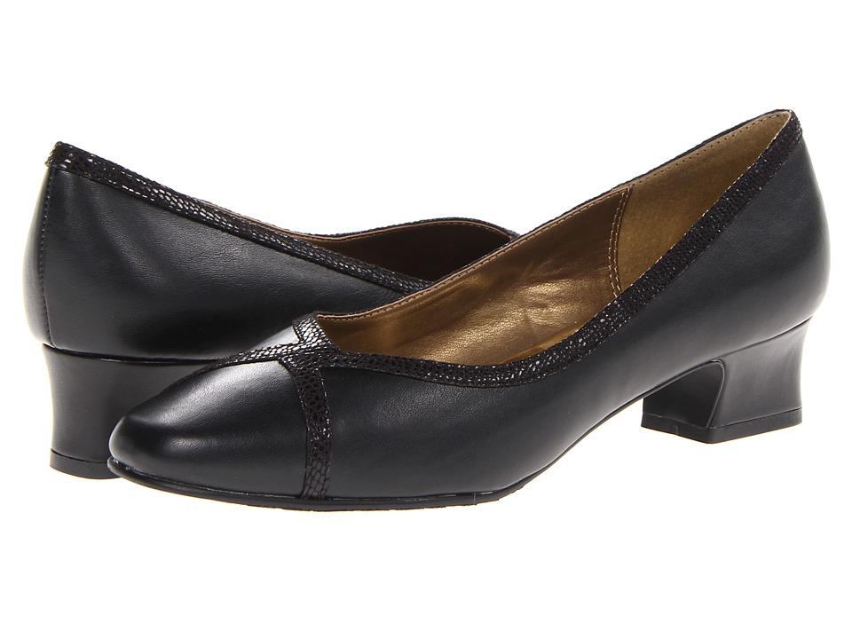 Soft Style - Lanie Black Lizard Womens 1-2 inch heel Shoes $49.00 AT vintagedancer.com