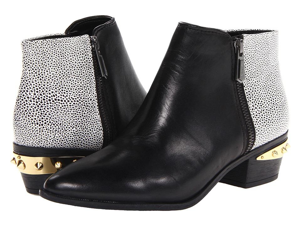 Circus by Sam Edelman Holt Black/Black White Womens Zip Boots