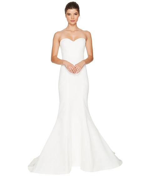 Nicole miller dakota silk faille strapless gown at for Nicole miller strapless wedding dress