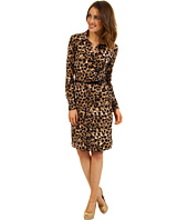 Anne Klein - Animal Print Belted Dress