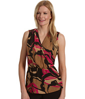 Anne Klein - Abstract Camo S/L Blouse