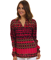 Anne Klein - Abstract Houndstooth Tunic