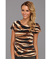 Anne Klein - Animal Ponte Peplum Top