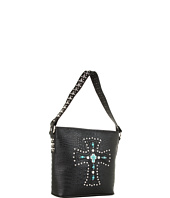 Nocona - Turquoise Cross Bucket Shoulder Bag