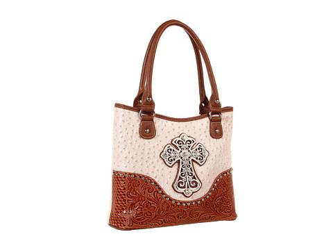 M&F Western Ostrich Cross Shoulder Bag