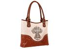 M&F Western Ostrich Cross Shoulder Bag (White)