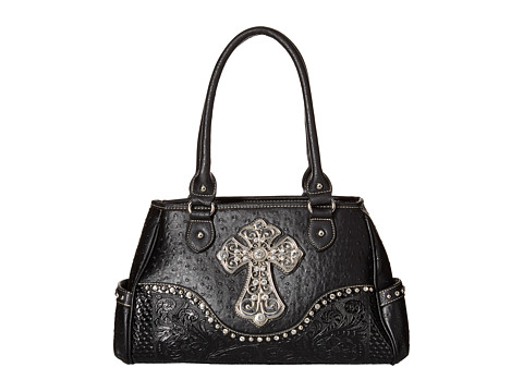 M&F Western Ostrich Cross Satchel