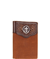 Nocona - Tooled Cross Concho Tri-Fold Wallet