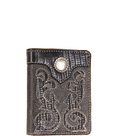Nocona - Distressed Cutout Lizard Concho Tri-Fold Wallet