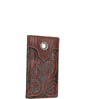 Nocona - Distressed Cutout Lizard Concho Rodeo Wallet