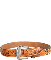 Nocona - Star Concho Tooled Overlay Belt