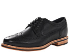 Cole Haan - Cooper SQ Wingtip (Black/Black Grain) - Footwear