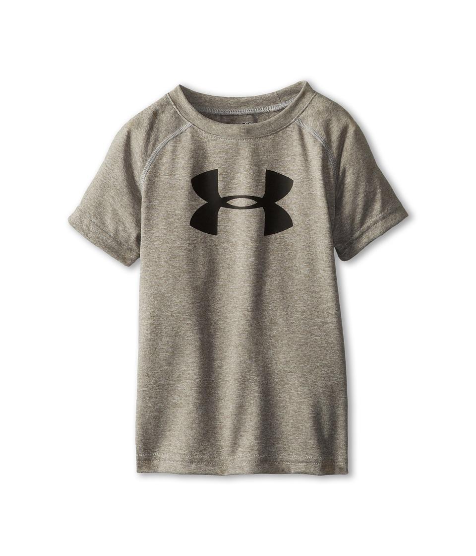 Under Armour Kids - Big Logo Tee (Toddler) (True Grey Heather) Boys T Shirt