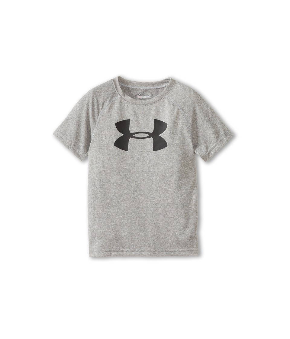 Under Armour Kids - Big Logo Tee (Little Kids/Big Kids) (True Grey Heather) Boys T Shirt