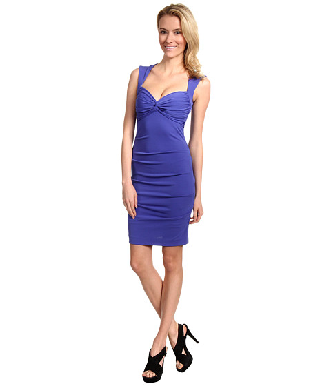 Nicole Miller - Felicia Matte Jersey Dress (New Cobalt) - Apparel