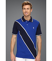 U.S. Polo Assn - Solid Polo with Contrast Color Piecing