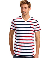 U.S. Polo Assn - Striped V-Neck T-Shirt with Small Pony