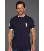 U.S. Polo Assn - Solid Crew Neck T-Shirt with Big Pony