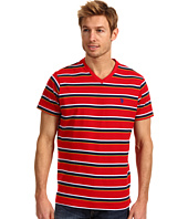 U.S. POLO ASSN. - Striped V-Neck T-Shirt with Small Pony