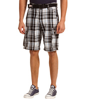 U.S. Polo Assn - Plaid Twill Cargo Short with Belt