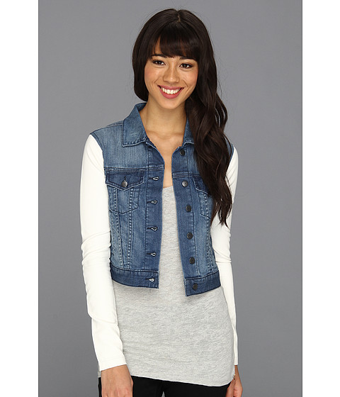 Cheap Bcbgeneration Cropped Denim Jacket Bluau