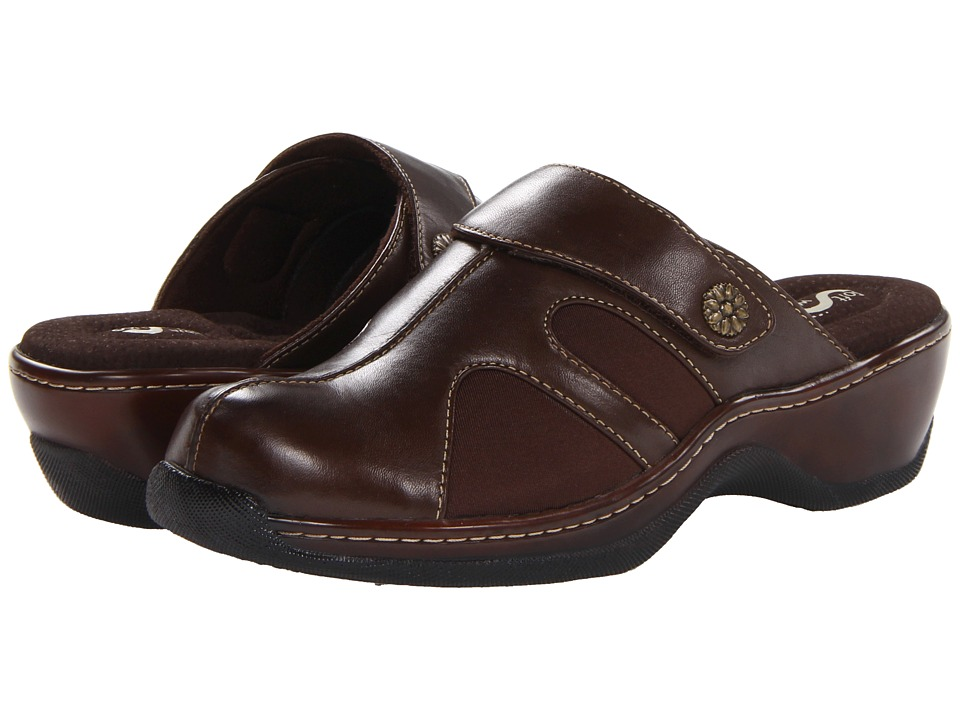 SoftWalk - Acton (Dark Brown Veg Calf Leather/Stretch) Women